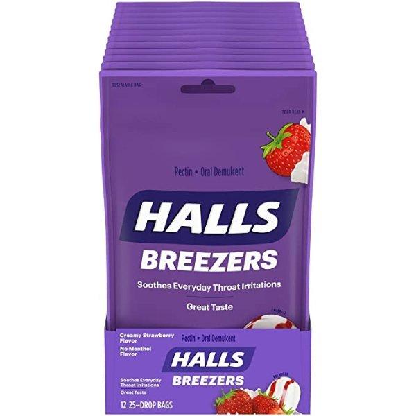 奶油草莓味润喉糖 25颗装 12包