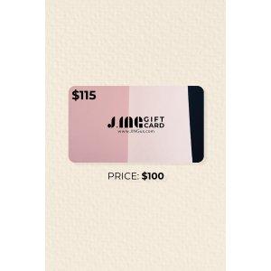 J.ING相当于7折周年礼卡 价值$115