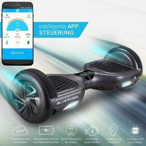 低至7.2折 €164.25收土豪金黑五价:Bluewheel 电动平衡车热促 轻度代步神器 多色可选