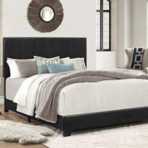 $104.07Crown Mark Upholstered Panel Bed in Black, Queen