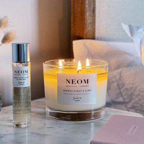 无门槛7.5折!$23收香氛蜡烛!NEOM 自然有机香氛 香薰蜡烛和护肤精油二合一