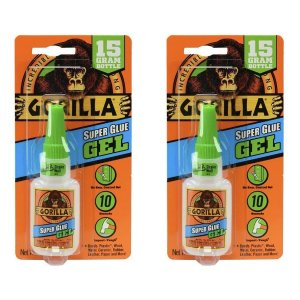 $4Gorilla Super Glue Gel, 15 g, Clear, (2 Pack)