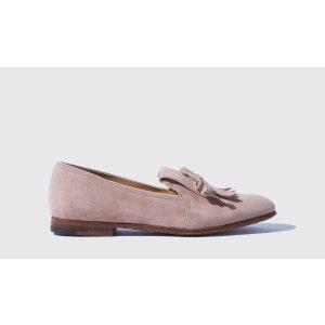 Scarosso粉色乐福鞋