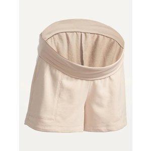 Old NavyMaternity Rollover-Waist Vintage Sweat Shorts -- 4-inch inseam