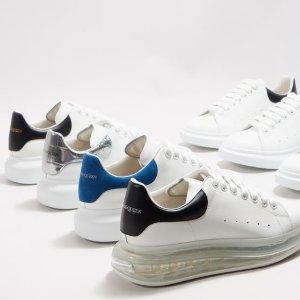 无门槛6.5折 黑尾$364Alexander McQueen 潮鞋闪促 小白鞋、马丁靴、厚底鞋