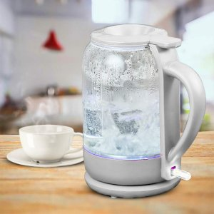 Ovente Electric Glass Hot Water Kettle 1.5 Liter