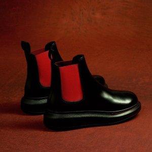 Alexander McQueen拼色切尔西靴