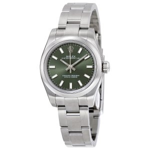 RolexLady Oyster Perpetual 26 Olive Green Dial Stainless Steel Oyster Bracelet Automatic Watch 176200OVSO