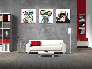 $92(原价$129.89)闪购:Visual Art 摩登现代风帆布画 3幅 32x32