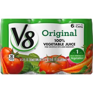 $15.49V8 Original 100% Vegetable Juice, 5.5 oz. Can (Total of 48)