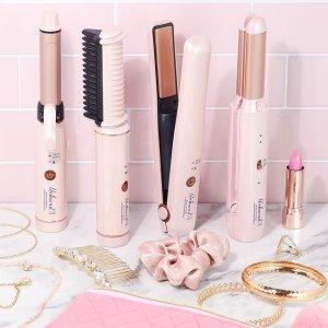 低至7.5折 电动剃毛刀$29The Bay 实用美妆小工具 玫瑰金化妆镜、2合1直发卷发棒