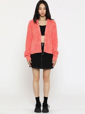 Crop Knit Cardigan Coral  | W Concept
