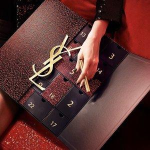 套装8.5折 变相低至5.9折YSL 圣罗兰2020圣诞日历倒数礼盒、小金条小银条套装