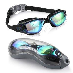 $12.99Aegend 防漏防雾防紫外线游泳镜促销 男女童款全都有