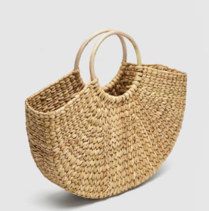 STRAW BAG WITH ROUNDED HANDLES - View all-BAGS-WOMAN | ZARA United States