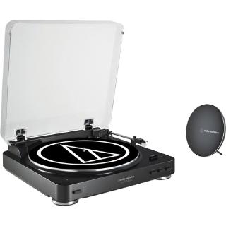 $99 (原价$199)Audio-Technica AT-LP60BK-BT 黑胶唱机 + 蓝牙音箱 套装
