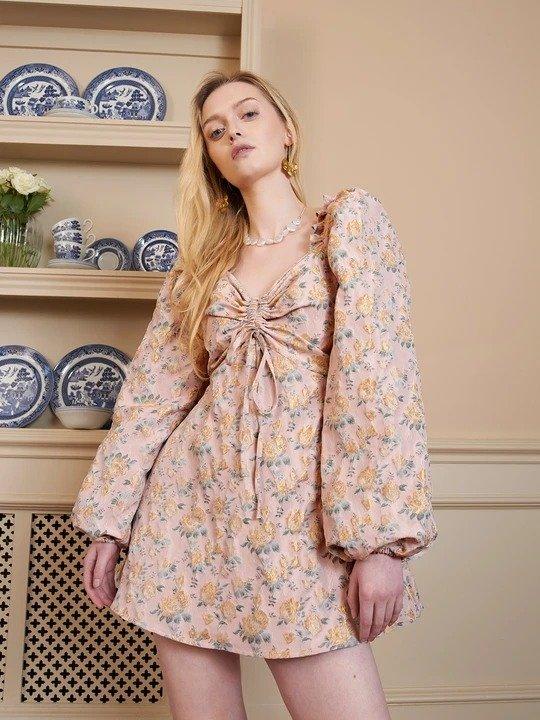 玫瑰花园连衣裙