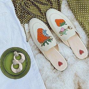 7.5折+送旅行包+晒单抽奖Gucci 美鞋热卖 经典运动鞋、Sylvie乐福鞋$299 (原价$890)