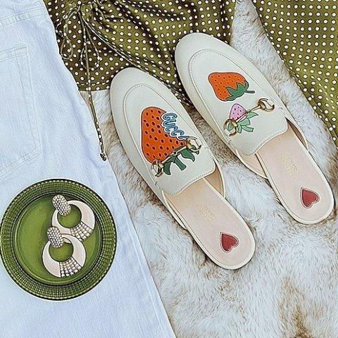 无门槛7.5折+送旅行包Gucci 美鞋热卖 经典运动鞋、Sylvie乐福鞋$299 (原价$890)