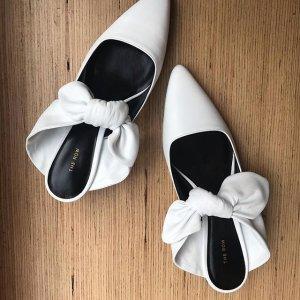 最高送$900礼卡  收经典蝴蝶结单鞋The Row 精选热卖 文艺气质穆勒鞋多款码全