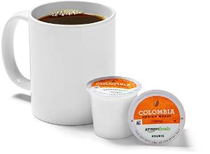 $8.49起 亚马逊自有品牌 美味好保障折扣升级:AmazonFresh 中度烘焙哥伦比亚 K cup 咖啡胶囊