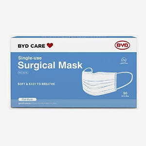 As Low As $9.89BYD Procedural Mask (Non Sterile), Blue (50 Masks/Box)