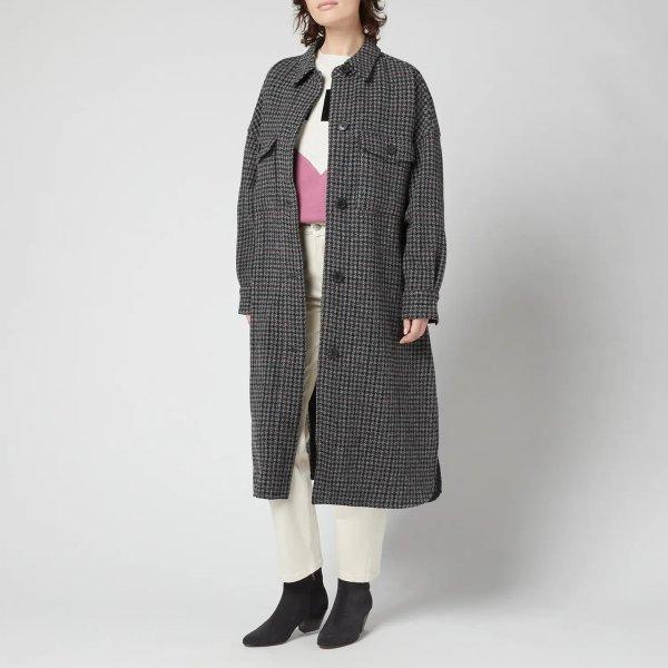 长款格纹夹克