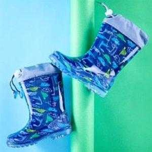 低至$9.99最后一天:Zulily 儿童雨靴特卖 踩水、踩泥,不怕脏