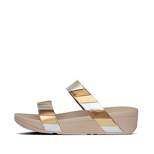 金银色拖鞋