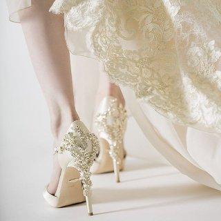 低至3折 $89.99起入MB、JC大牌平替Badgley Mischka水晶鞋热卖 超仙缎面水晶鞋好价 婚鞋最佳选择