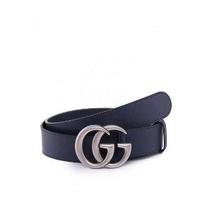 Gucci银色双G 腰带
