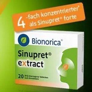 €19.03收40片(原价€26.95)欧龙马 Sinupret extract 仙璐贝 鼻窦炎片强化版 过敏性鼻炎救星