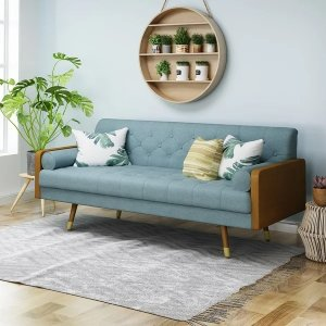 Christopher Knight HomeJalon Tufted Fabric Sofa by Christopher Knight Home - Blue
