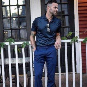 额外4折 POLO衫$12Perry Ellis 男士经典POLO衫, 短袖特卖