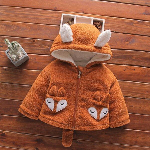 儿童毛茸茸外套 小狐狸造型