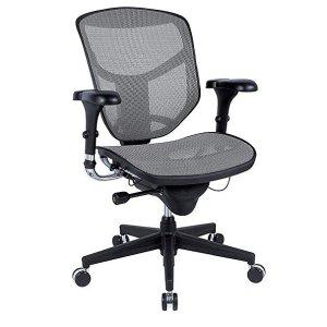 WorkPro® Quantum 9000 Series Ergonomic Mid-Back Mesh/Fabric Chair, Black