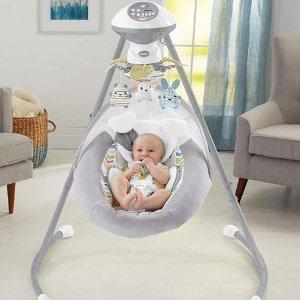 $162.85(原价$189.97)Fisher-Price 费雪 Snugapuppy 豪华婴儿甜梦秋千摇篮