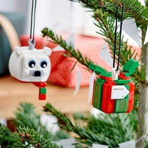 Lego10月1日上市北极熊和礼物盒挂件 40494