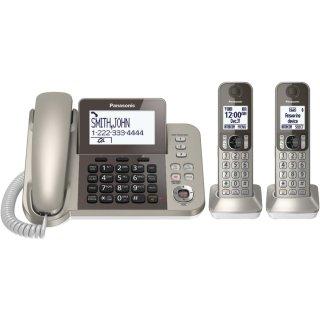 $47.99 (原价$89.95)Panasonic KX-TGF352N 无绳电话系统 带两个应答机