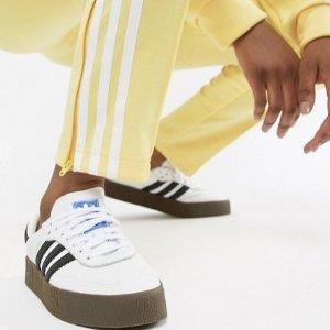 现价$80(约¥550)+直邮中国ADIDAS ORIGINALS Samba Rose 纹理皮革厚底运动鞋