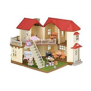 $74原價$129.99)Calico Critters 森貝兒家族豪華玩具屋套裝,亮燈超美