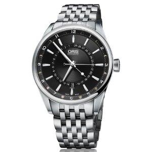 Oris Artix Pointer Moon Black Dial Steel Men's Watch