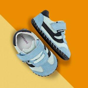 额外7折  最低$13.99/双10周年独家:pediped OUTLET 婴儿学步鞋促销,第1双鞋很重要