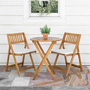 户外餐桌餐椅3件套
