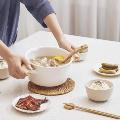 2.3升日式双耳珐琅汤锅