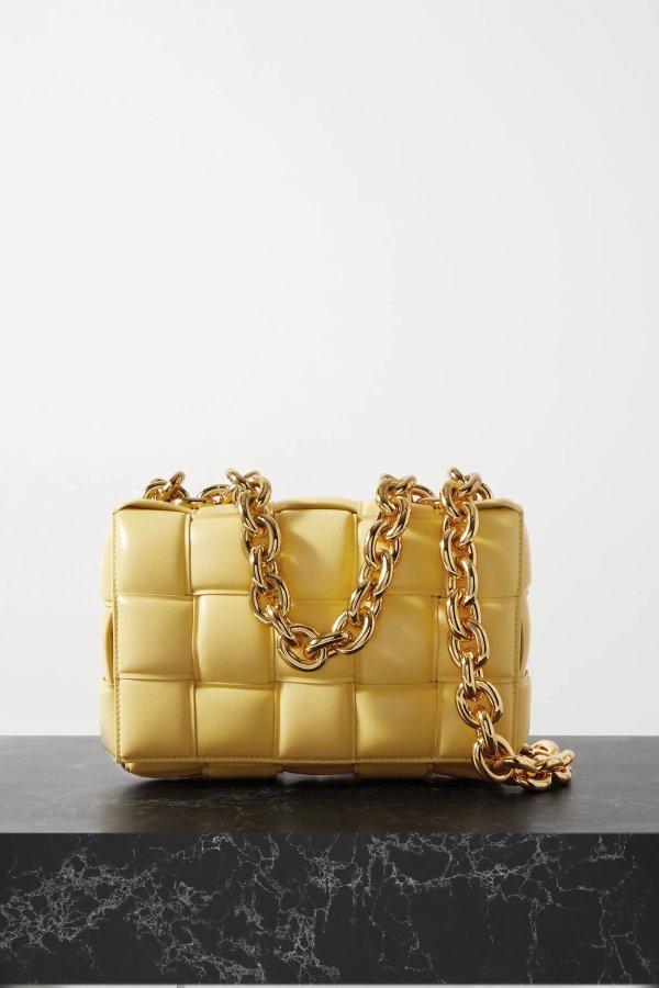 奶黄链条枕头包