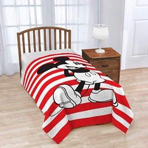 $19.99(原价$29.99)迪士尼米老鼠条纹盖毯,62