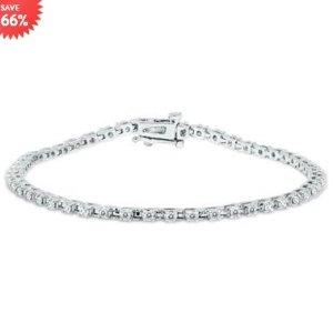 $488(原价$1449)+免邮上新:Szul精选1克拉钻石白金手链特价热卖