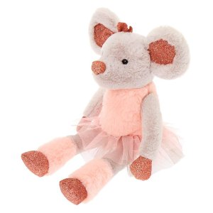 B1G1Claire's Club Ballerina Mouse Plush Toy - Gray