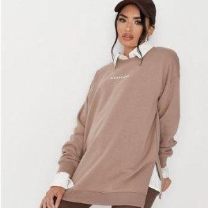 一律4折 封面卫衣$16Missguided 时尚孕妇服,US 2-14码日常可穿 秋冬色很巧克力